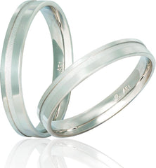 White Gold Wedding Rings S17 Stergiadis - Goldy Jewelry Store