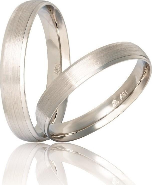 White Gold Wedding Rings S25 Stergiadis - Goldy Jewelry Store