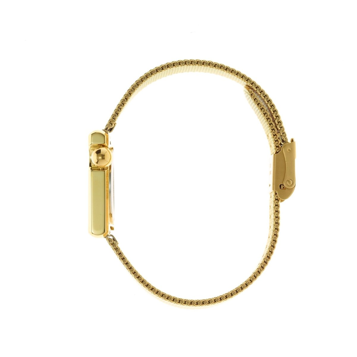 LIP 671109 Mach 2000 Mini Square Gold Stainless Steel Bracelet - Goldy Jewelry