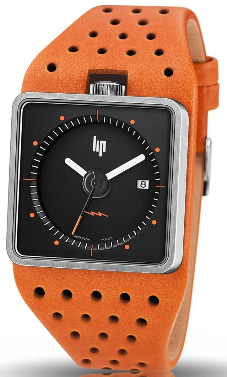 LIP 671136 Big TV Orange Leather Strap - Κοσμηματοπωλείο Goldy