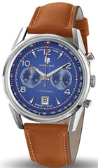 LIP 671597 Brown Leather Strap Chronograph - Κοσμηματοπωλείο Goldy