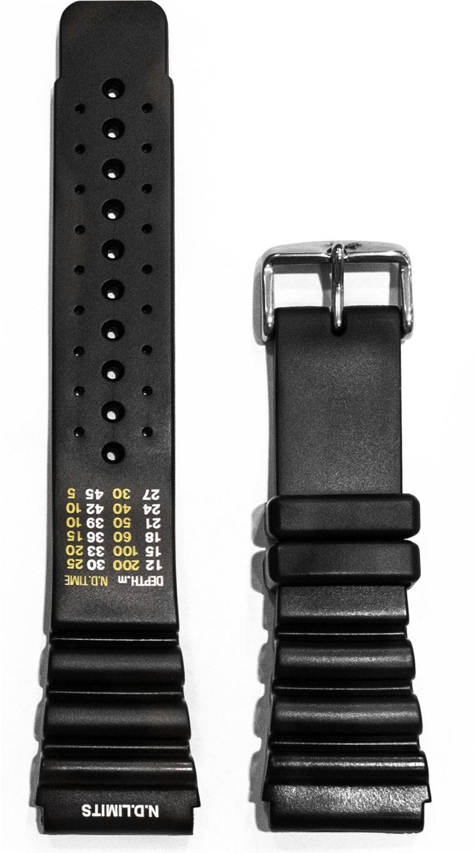 Hirsch Pro Diver 40908850 Black Rubber Strap 22mm - Goldy Jewelry Store