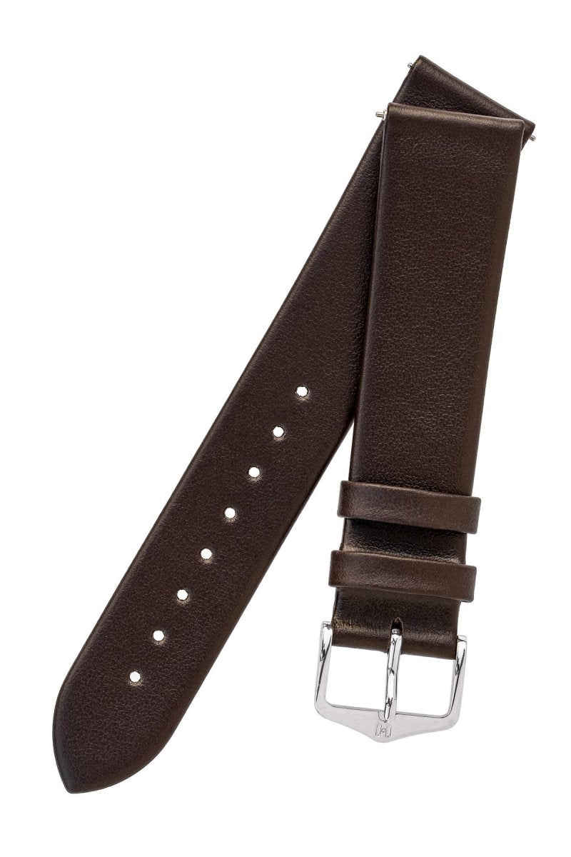 Λουρί Hirsch Toronto Calfskin 03702110 Brown Leather Strap - Κοσμηματοπωλείο Goldy