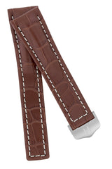 Λουρί Navigator Louisiana Alligator 07007479 Brown Leather Strap - Κοσμηματοπωλείο Goldy