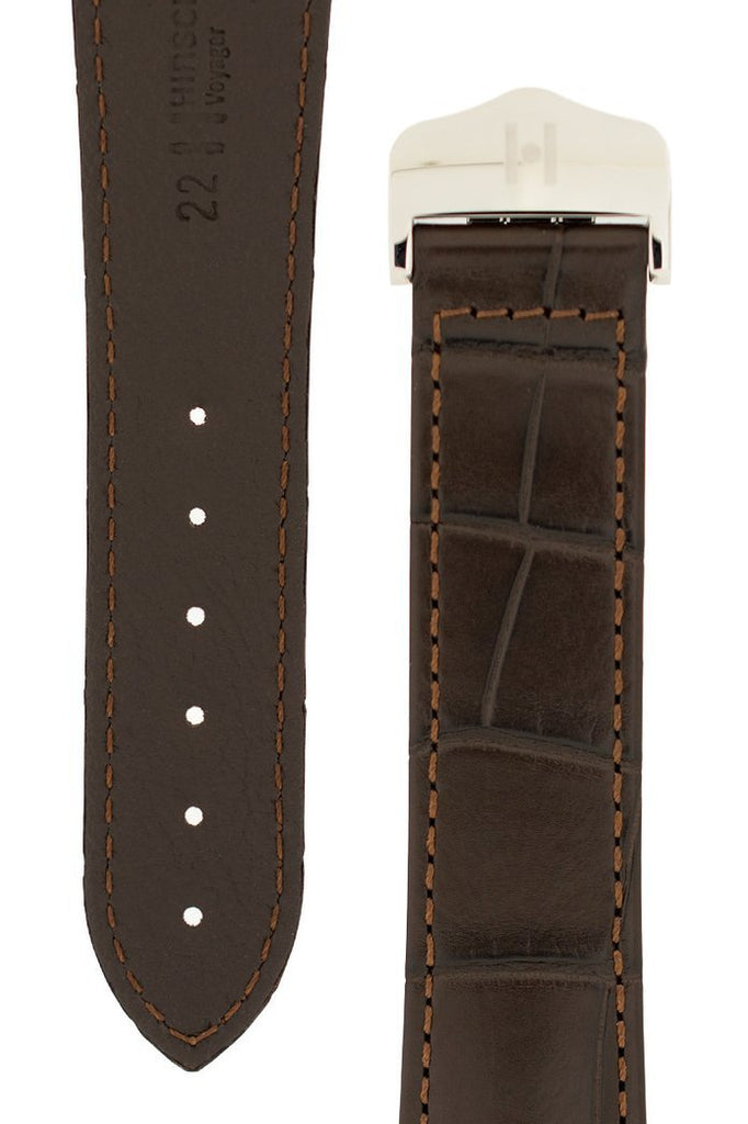 Λουρί Navigator Louisiana Alligator 07107417 Brown Leather Strap - Κοσμηματοπωλείο Goldy