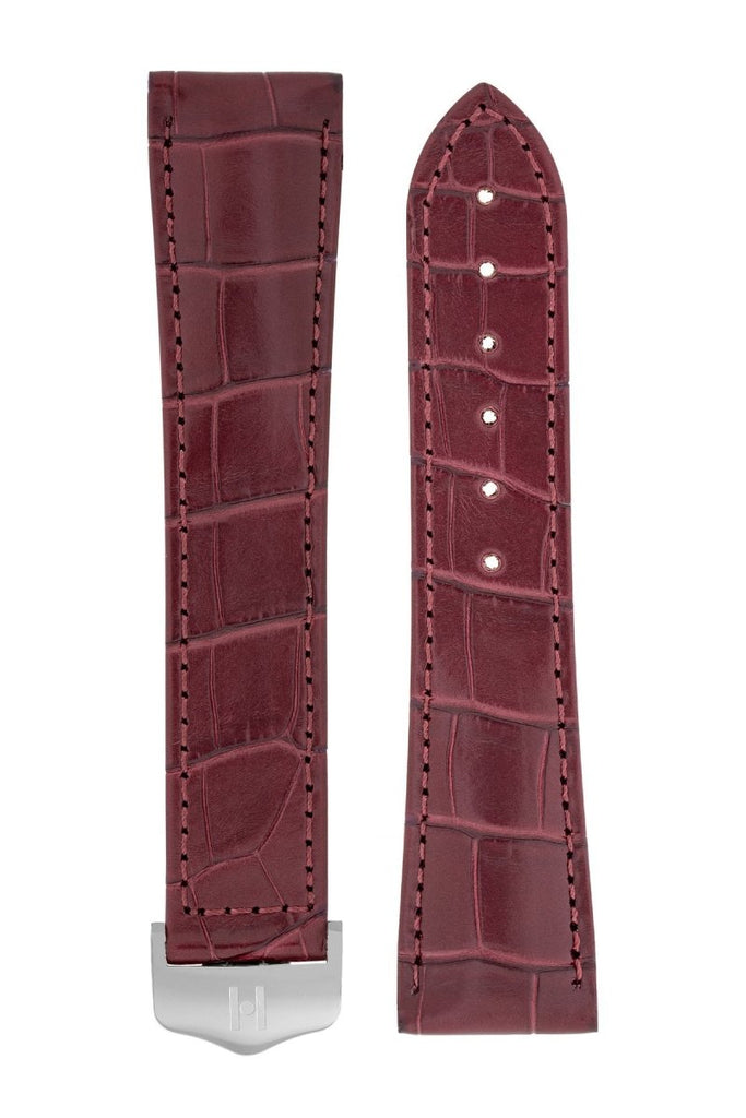 Λουρί Navigator Louisiana Alligator 07107469 Burgundy Leather Strap - Κοσμηματοπωλείο Goldy