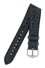 Λουρί Regent Louisiana Alligator 04107189 Blue Leather Strap - Κοσμηματοπωλείο Goldy