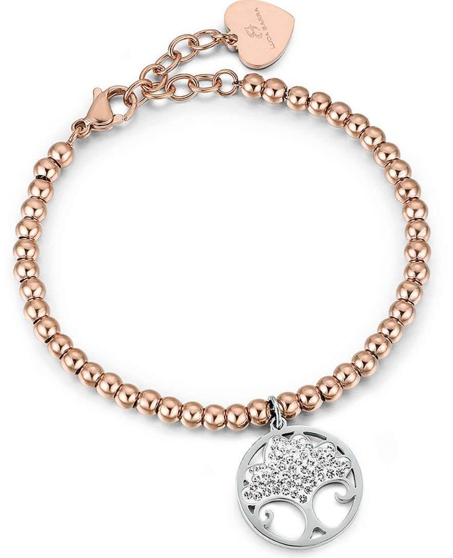 Luca Barra BK1850 Rose Gold Plated Steel Bracelet with Tree of Life - Goldy Jewelry Store