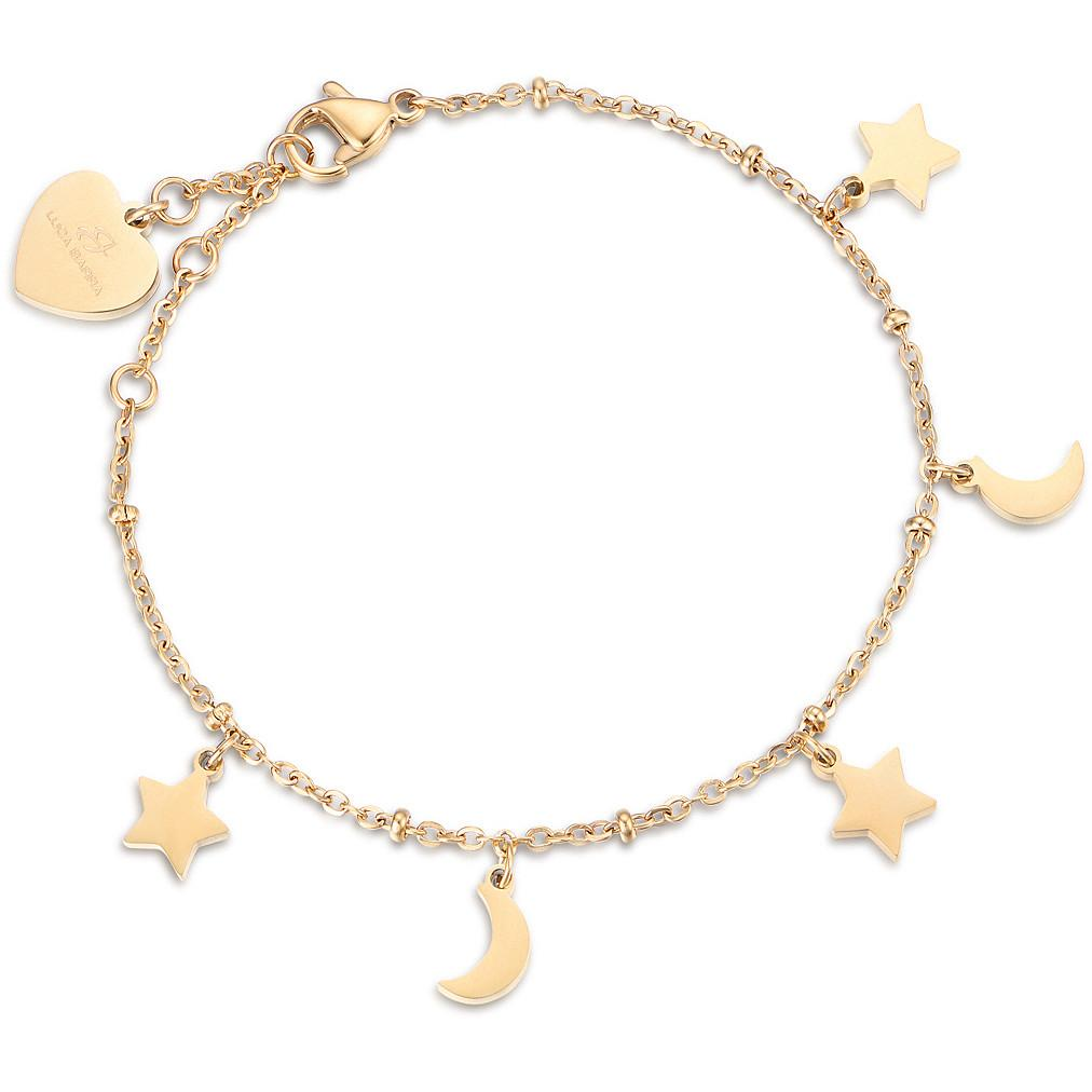 Luca Barra BK1909 Gold Plated Steel Bracelet with Stars - Goldy Jewelry Store