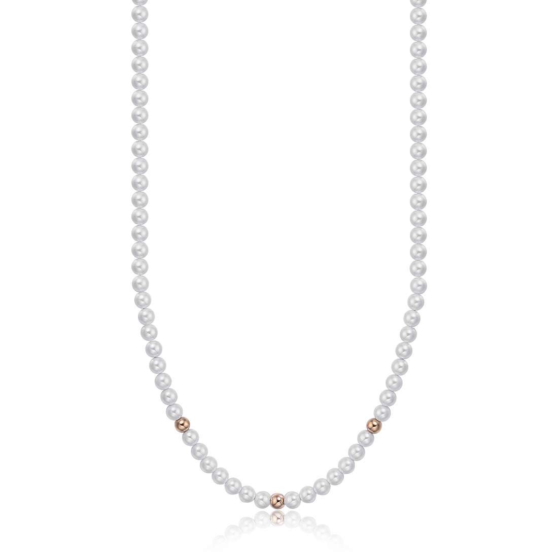 Luca Barra CK1440 Steel Necklace with Pearls - Goldy Jewelry Store