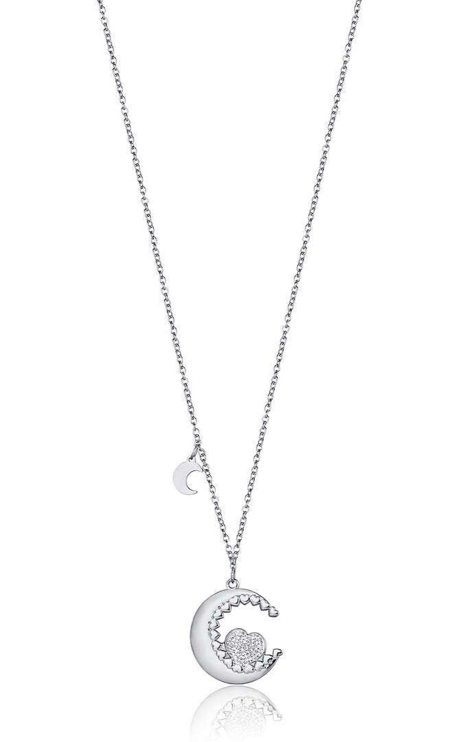 Luca Barra CK1451 Steel Necklace with Moon - Goldy Jewelry Store