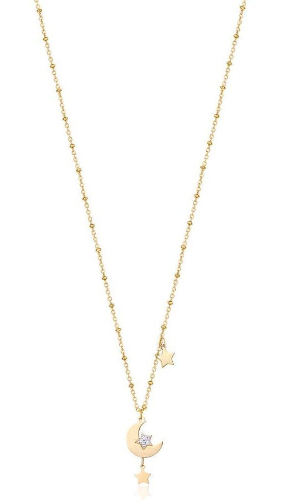 Luca Barra CK1486 Gold Plated Steel Necklace - Goldy Jewelry Store