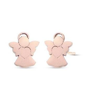 Luca Barra OK1072 Studs Earrings Made of Rose Gold - Goldy Jewelry Store