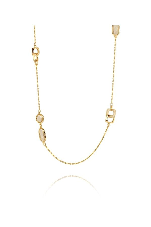 LUXENTER SGNM010115 Gold Plated Long Necklace - Goldy Jewelry Store