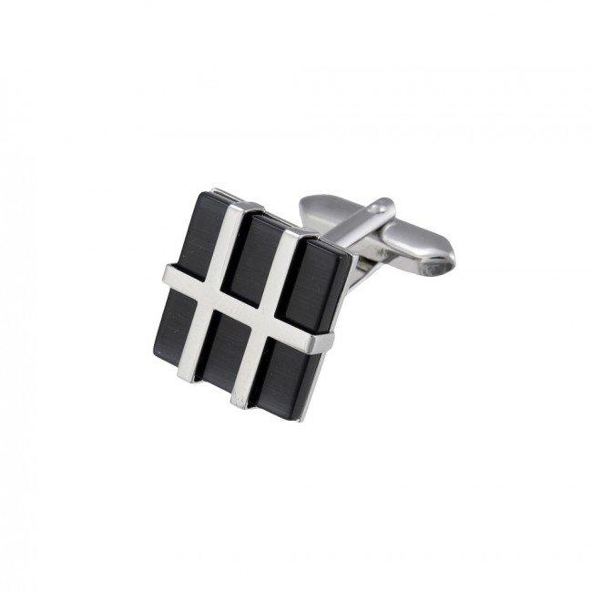 Stainless Steel Cufflinks Ascot 61 / 8421R - Goldy Jewelry Store