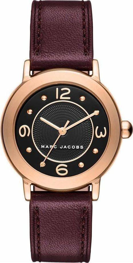 Marc Jacobs MJ1474 Riley Bordeaux Leather Strap - Κοσμηματοπωλείο Goldy