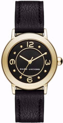 Marc Jacobs MJ1475 Riley Black Leather Strap - Goldy Jewelry