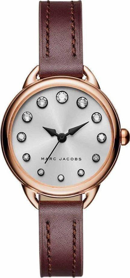 Marc Jacobs MJ1481 Betty Brown Leather Strap - Κοσμηματοπωλείο Goldy