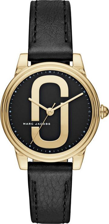 Marc Jacobs MJ1578 Corie Black Leather Strap - Κοσμηματοπωλείο Goldy