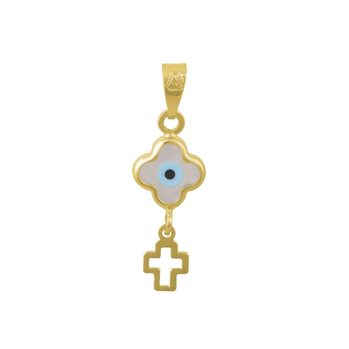 Eyelet with Cross M125G Gold K9 - Goldy Jewelry Store