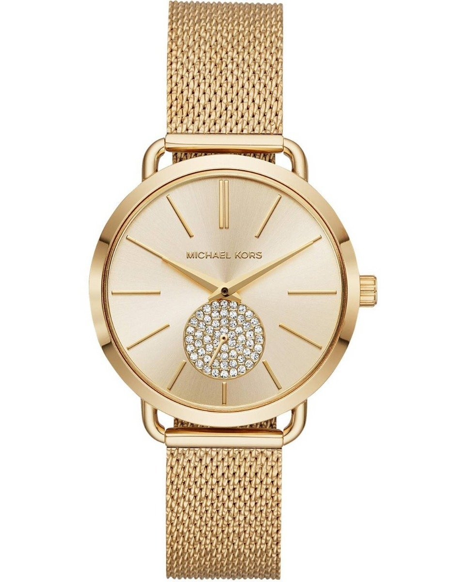 Michael Kors MK3844 Portia Gold Stainless Steel Watch - Κοσμηματοπωλείο Goldy