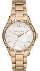 Michael Kors MK6870 Layton Crystals Gold Stainless Steel Bracelet - Jewelry Goldy
