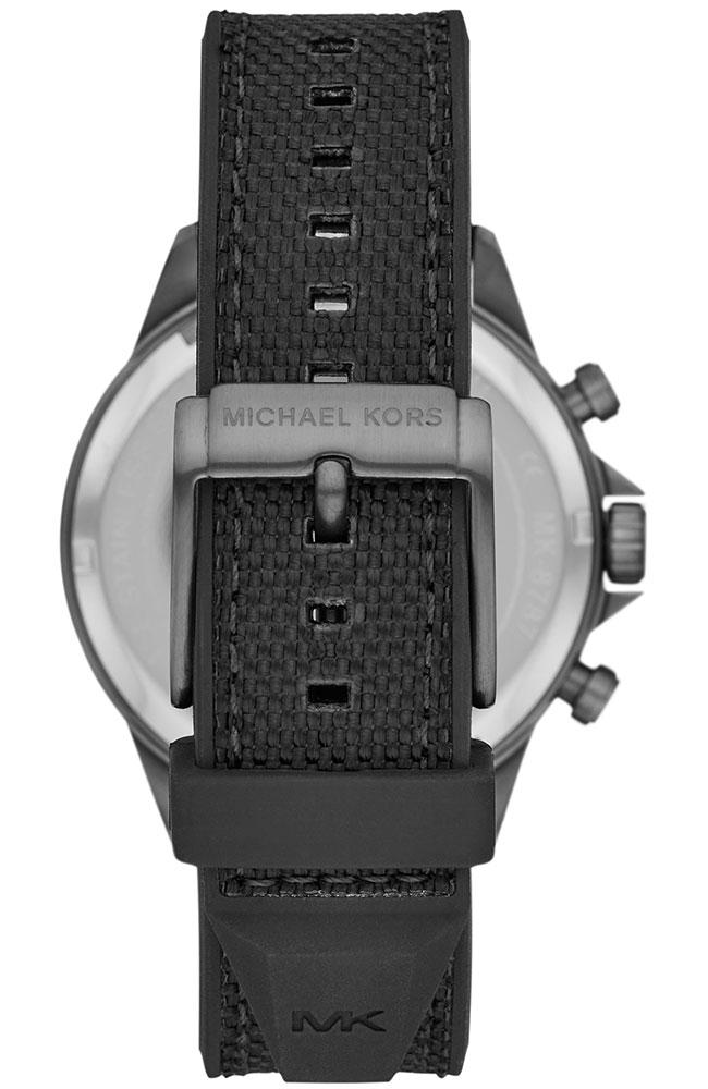 Michael Kors MK8787 Gage Black Rubber Chronograph - Κοσμηματοπωλείο Goldy