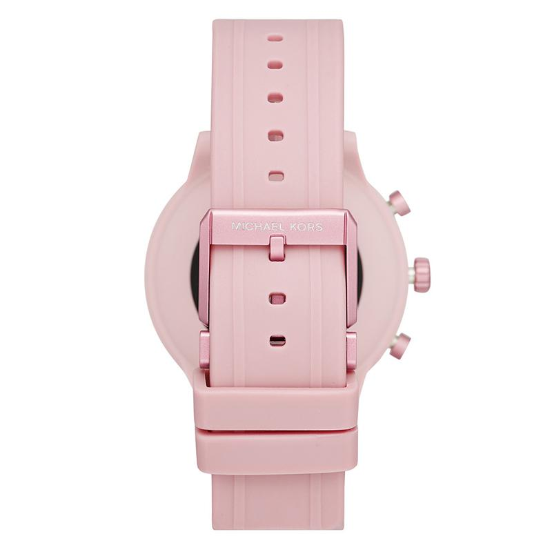 Michael Kors MKT5070 Access MKGO Touchscreen Smartwatch Pink Rubber Strap - Κοσμηματοπωλείο Goldy
