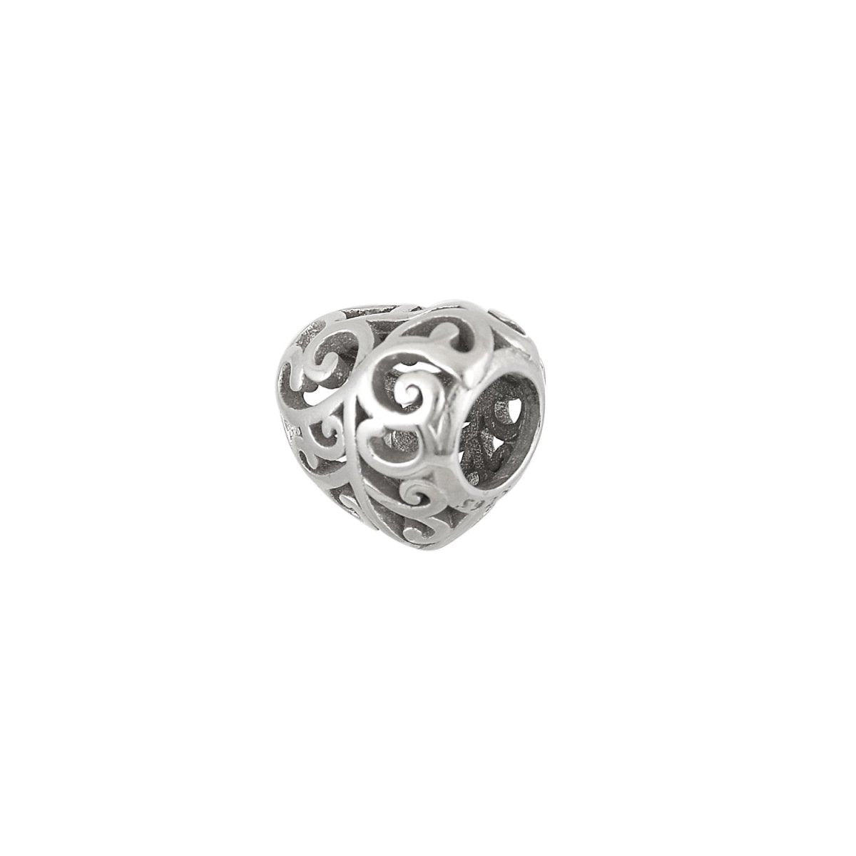Pattern for Bracelet D044W Heart From Platinum Silver - Goldy Jewelry Store