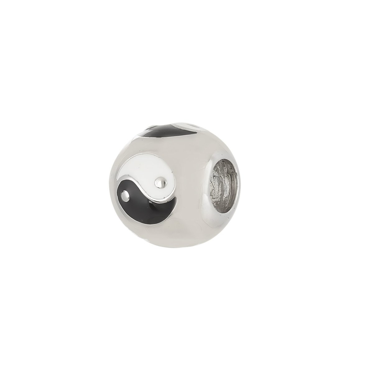 Pattern for Bracelet D099W Yin-Yang From Platinum Silver - Goldy Jewelry Store