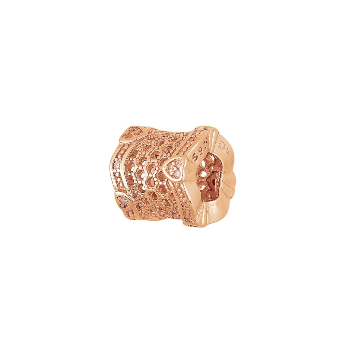 Motif for Bracelet D108R Made of Rose Gold Plated Silver - Goldy Jewelry Store