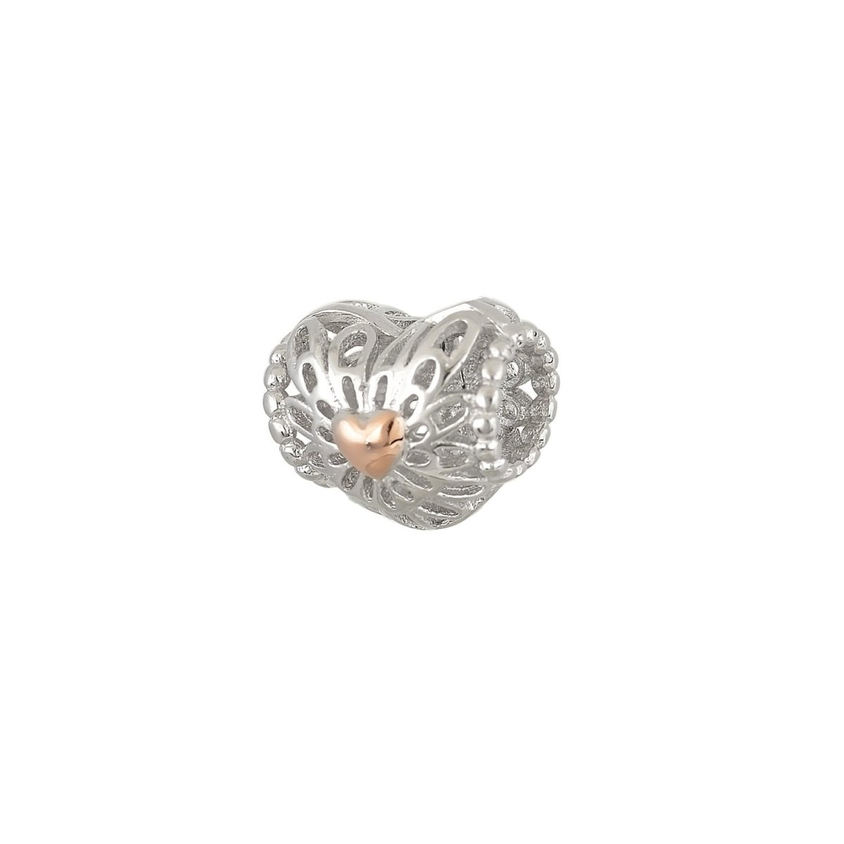 Pattern for Bracelet D32W Heart From Platinum Silver - Goldy Jewelry Store