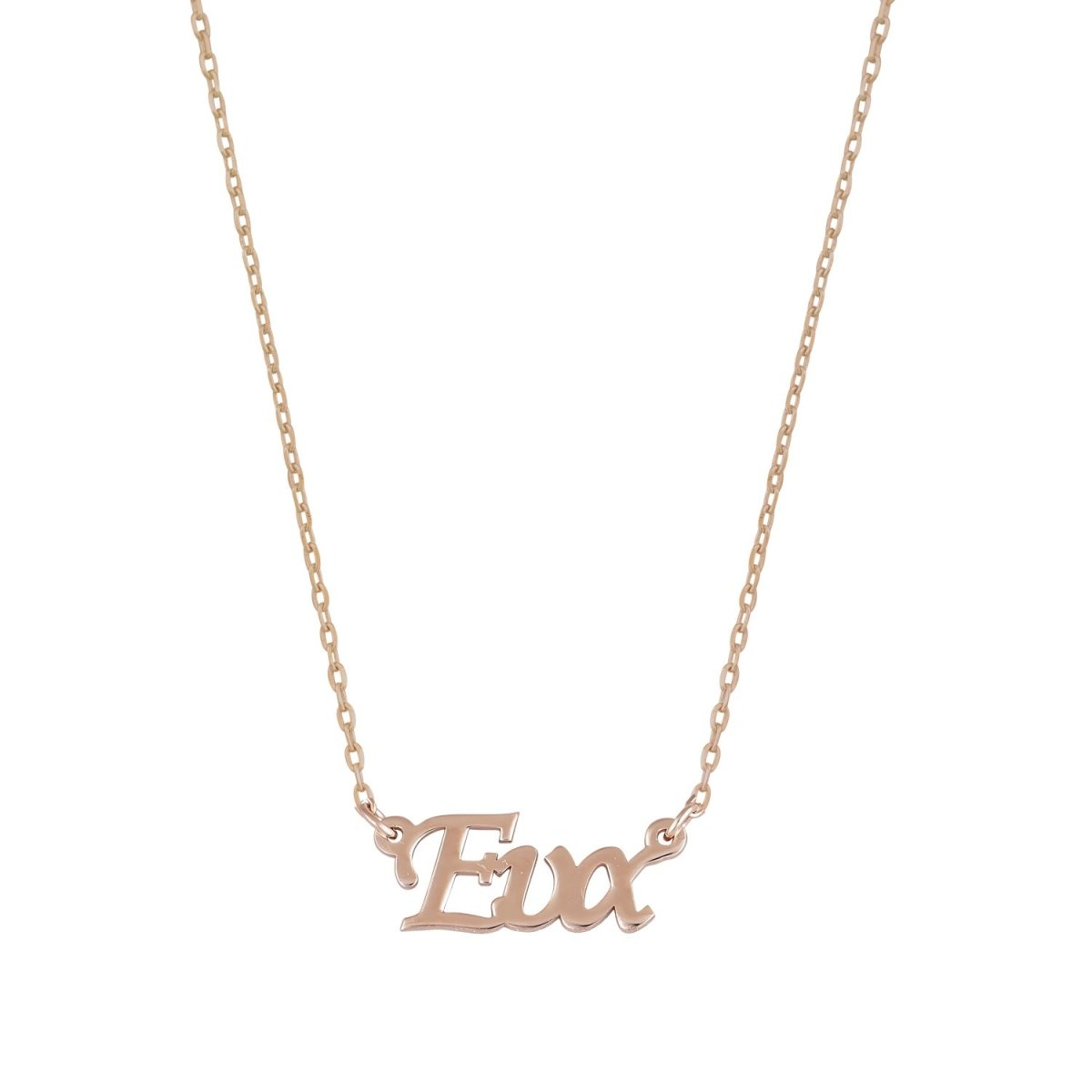 Name Eva GM113R Made of Rose Gold Plated Silver - Goldy Jewelry Store
