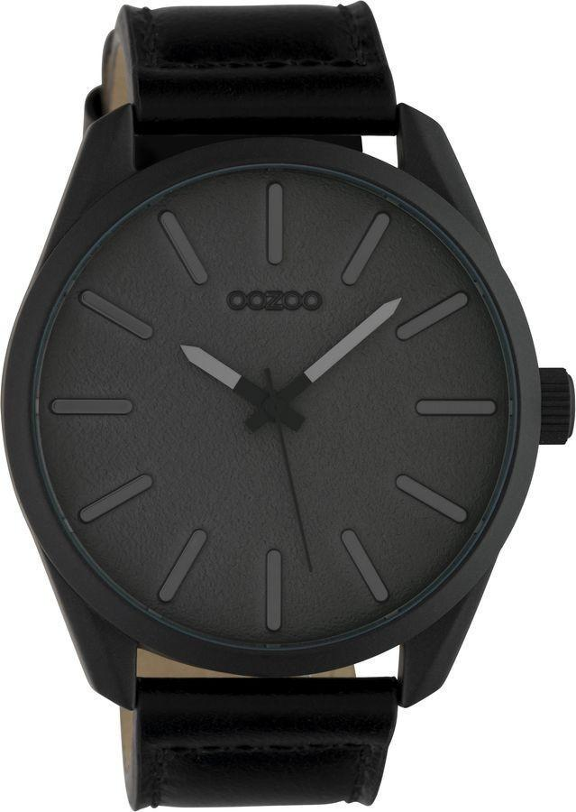 OOZOO C10324 48MM Timepieces Black Leather Strap - Κοσμηματοπωλείο Goldy