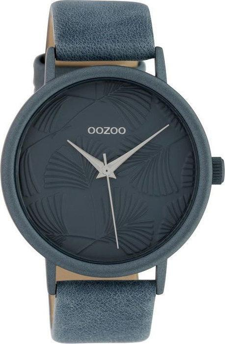 OOZOO C10397 42MM Timepieces Blue Leather Strap - Κοσμηματοπωλείο Goldy