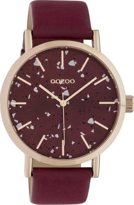 OOZOO C10412 40MM Timepieces Bordeaux Leather Strap - Κοσμηματοπωλείο Goldy