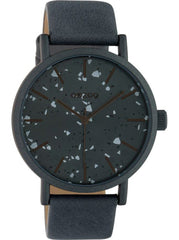 OOZOO C10413 40MM Timepieces Grey Leather Strap - Κοσμηματοπωλείο Goldy