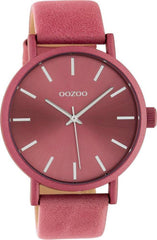 OOZOO C10449 42MM Timepieces Pink Leather Strap - Κοσμηματοπωλείο Goldy