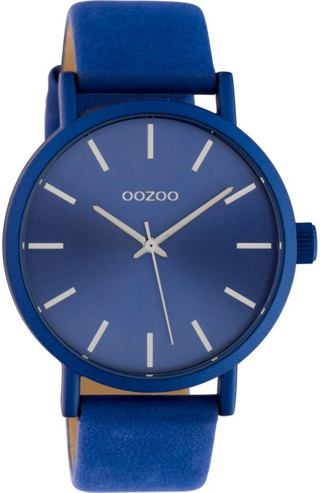 OOZOO C10452 42MM Timepieces Blue Leather Strap - Κοσμηματοπωλείο Goldy