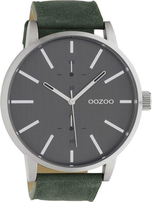 OOZOO C10500 50MM Timepieces Green Leather Strap - Goldy Jewelry
