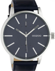 OOZOO C10501 50MM Timepieces Blue Leather Strap - Goldy Jewelry