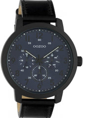 OOZOO C10509 50MM Timepieces Black Leather Strap - Goldy Jewelry