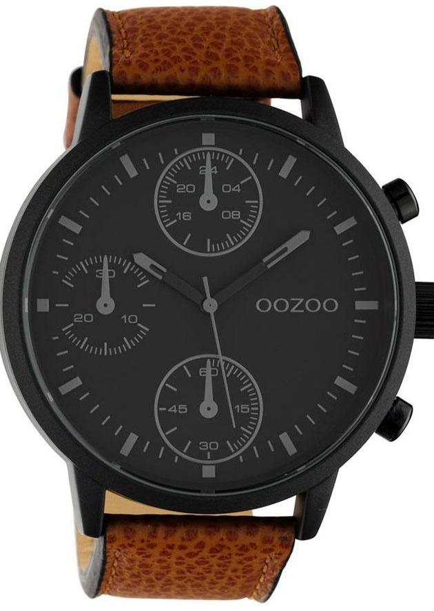 OOZOO C10533 50MM Timepieces Brown Leather Strap - Goldy Jewelry