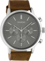 OOZOO C10541 48MM Timepieces Brown Leather Strap - Κοσμηματοπωλείο Goldy