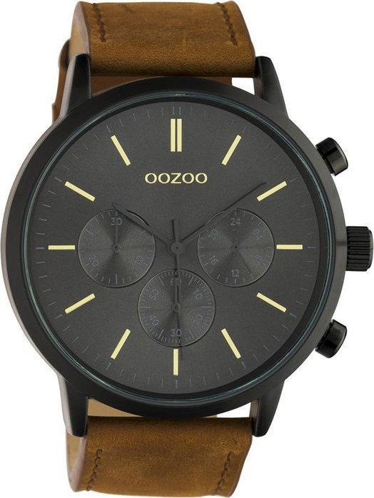 OOZOO C10543 48MM Timepieces Brown Leather Strap - Κοσμηματοπωλείο Goldy