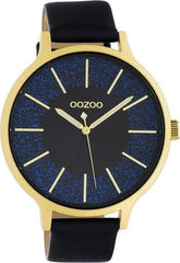 OOZOO C10568 45MM Timepieces Blue Leather Strap - Goldy Jewelry