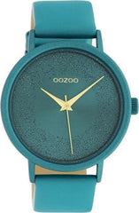 OOZOO C10581 42MM Timepieces Green Leather Strap - Goldy Jewelry