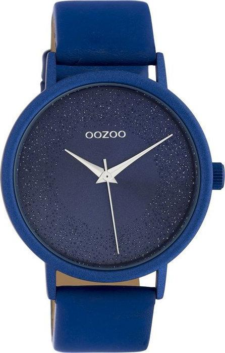 OOZOO C10583 42MM Timepieces Blue Leather Strap - Goldy Jewelry