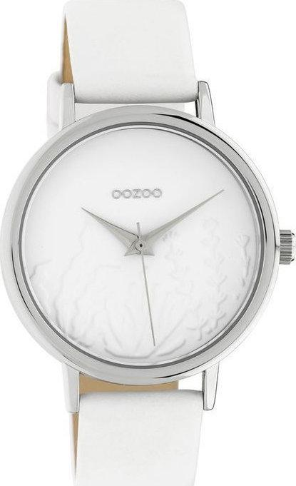 OOZOO C10600 36MM Timepieces White Leather Strap - Goldy Jewelry
