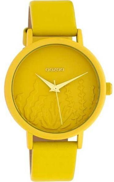OOZOO C10602 36MM Timepieces Yellow Leather Strap - Κοσμηματοπωλείο Goldy